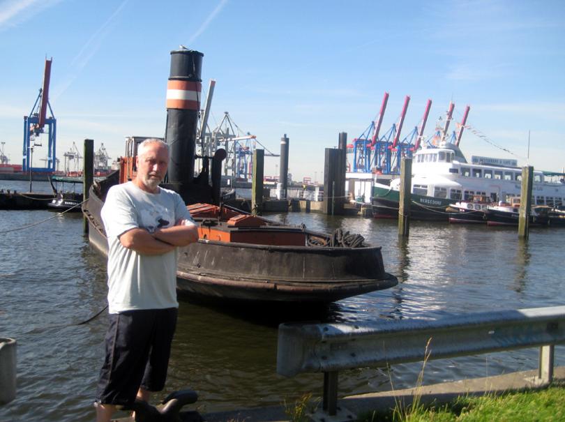 Siegfried Schreck im Hafen